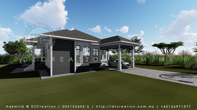 design rumah banglo 1 tingkat pasir mas