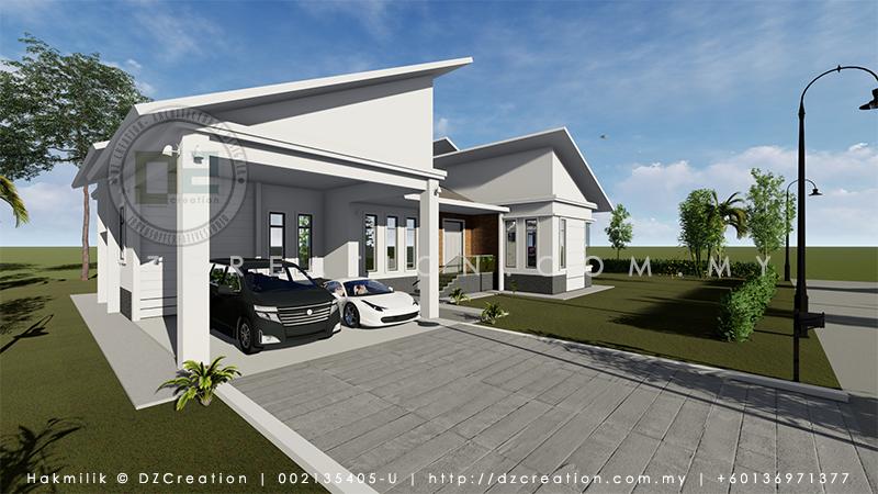 design rumah banglo tumpat