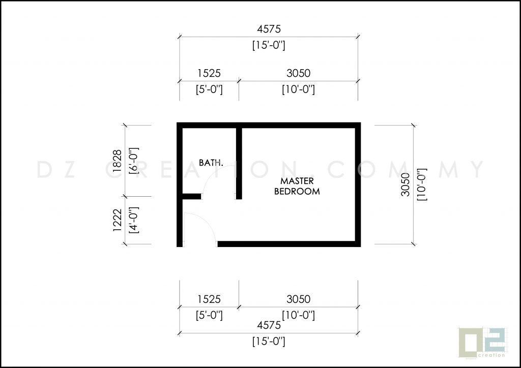 master bedroom 10 x 10 kaki ubbl 1984