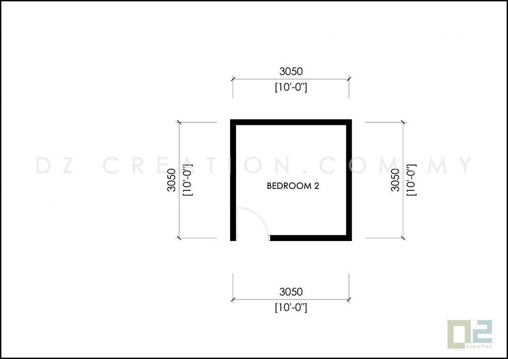 luas bilik 10 x 10 kaki ubbl 1984