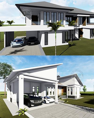 pelan rumah banglo