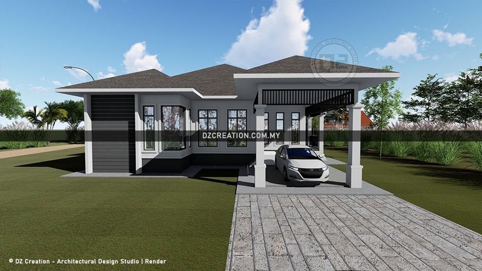 design banglo 1 tingkat