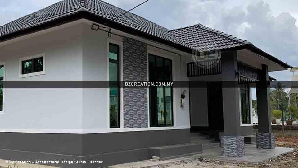 banglo 1 tingkat design